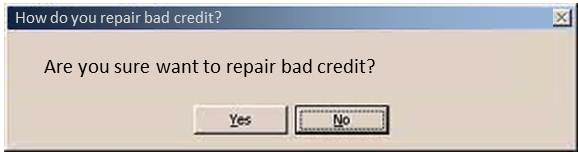 how do you repair bad credit